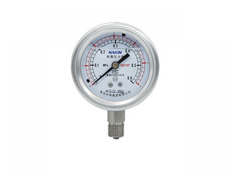 All steel seismic pressure gauge