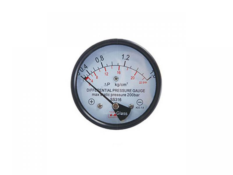 Magnetic induction differential pressure gauge