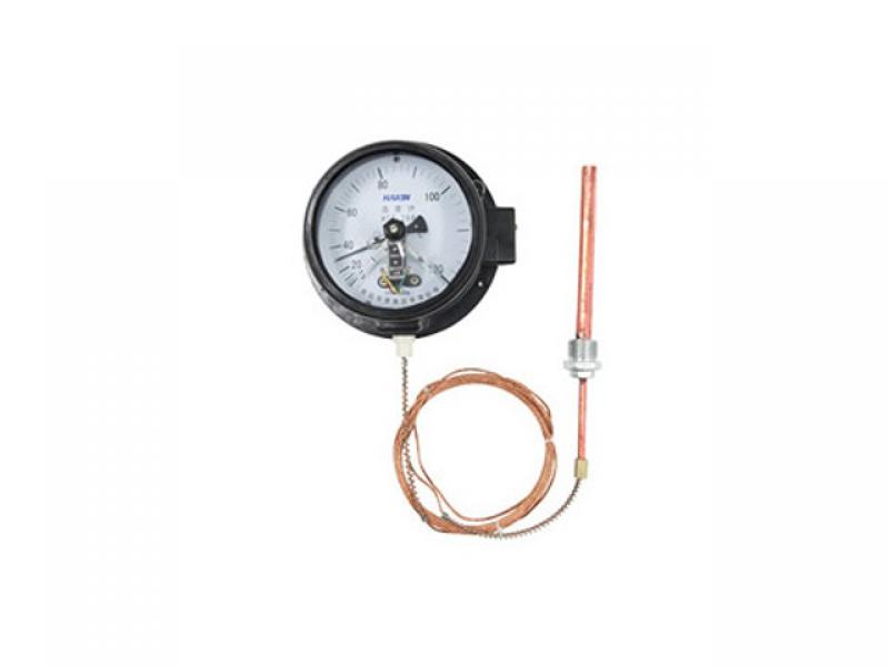 Electric contact pressure thermometer