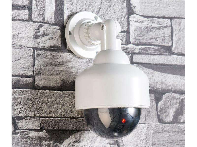 Fake Dummy Dome CCTV Security Camera Flashing LED Indoor Outdoor Surveillance