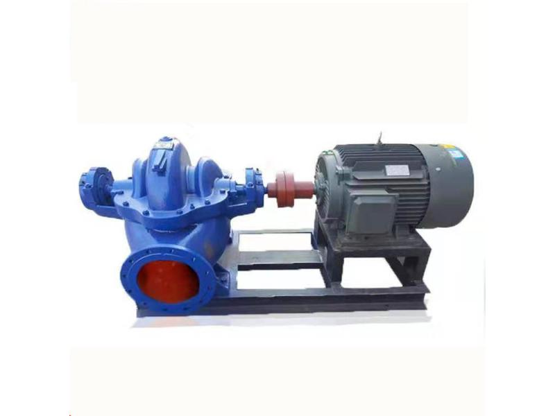 Double suction centrifugal pump 55kw open high seawater culture large drainage pump industrial flood