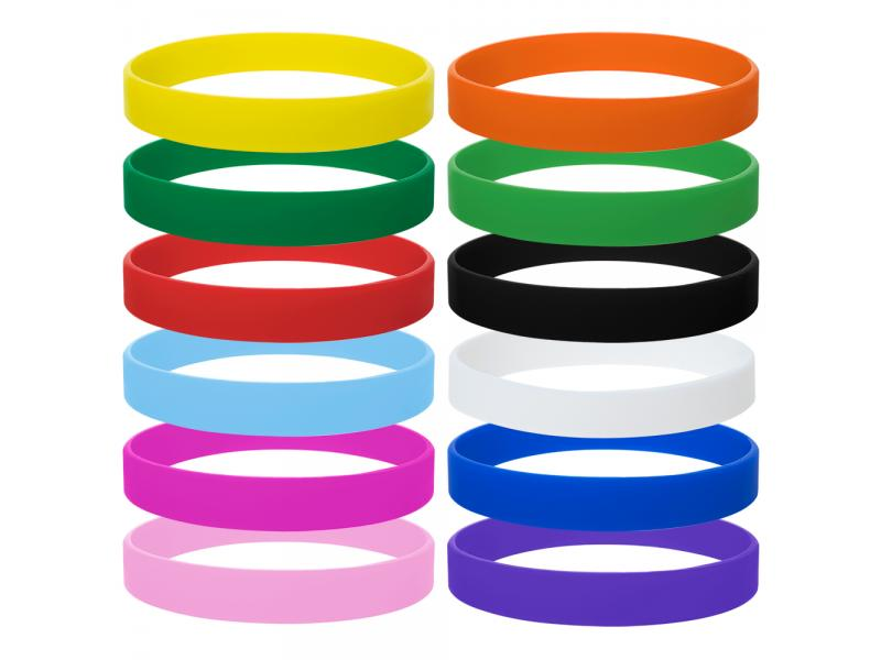 Silicone Bracelets Adult-Sized Rubber Band Bracelets Wristbands For Party