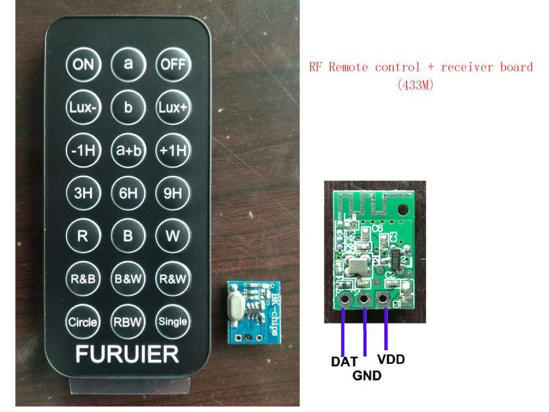 433M RF remote control