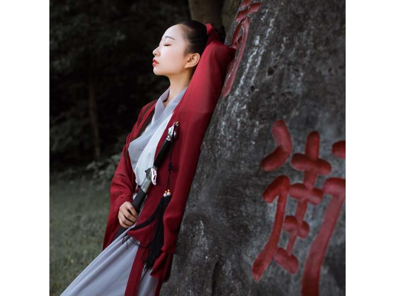 [Woven] Original Chinese element improved Hanfu female