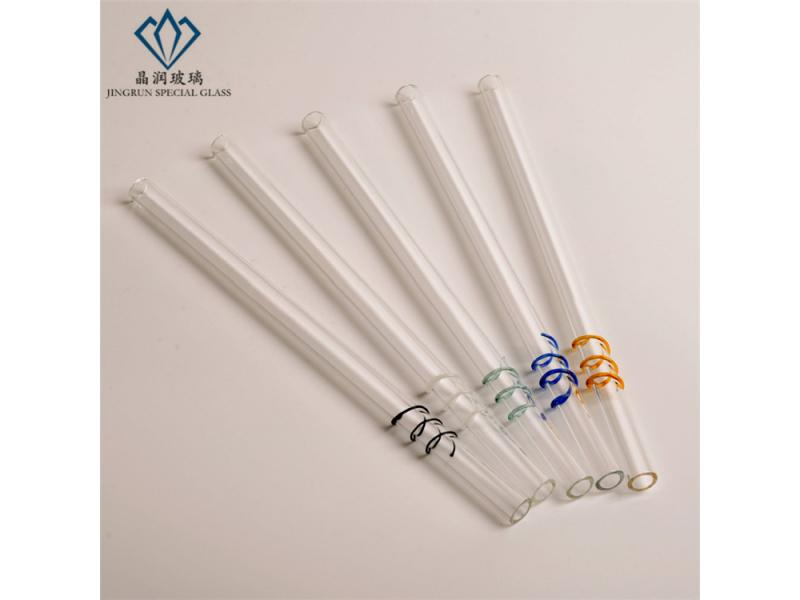 Creative spiral straws / high quality borosilicate glass drinking straws