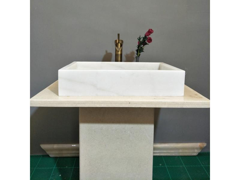 Marble white basin Wash basin Natural stone square wash basin