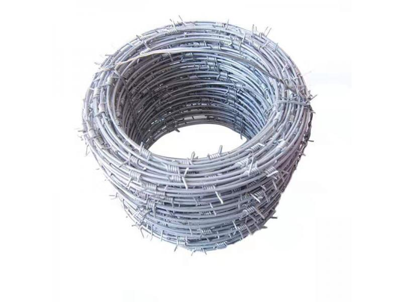 Railway engineering protection barbed wire anti-theft iron bar