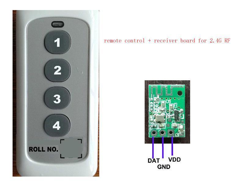 2.4G RF remote control