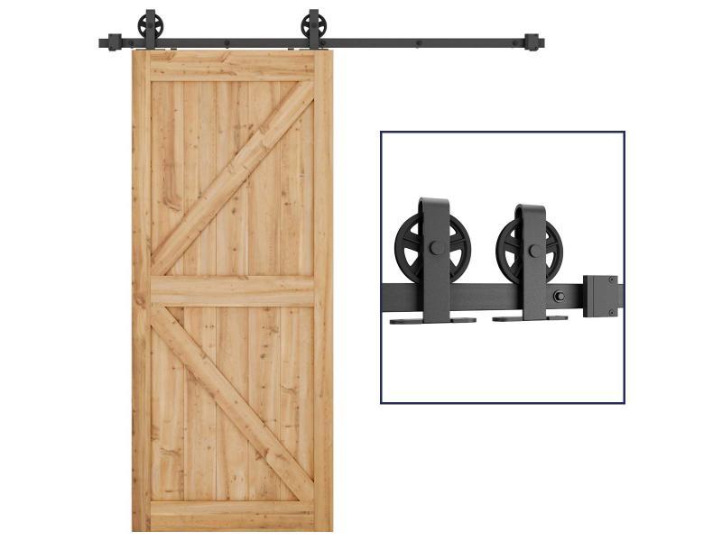 Top-mounted models big round barn door hardware