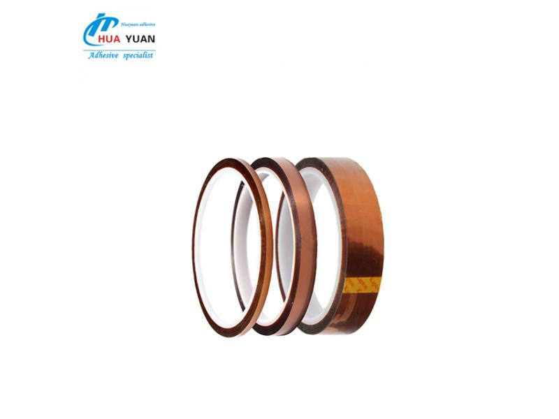 China brand finger tape ! Heat dedicated silicone golden tab protection polyimide tape