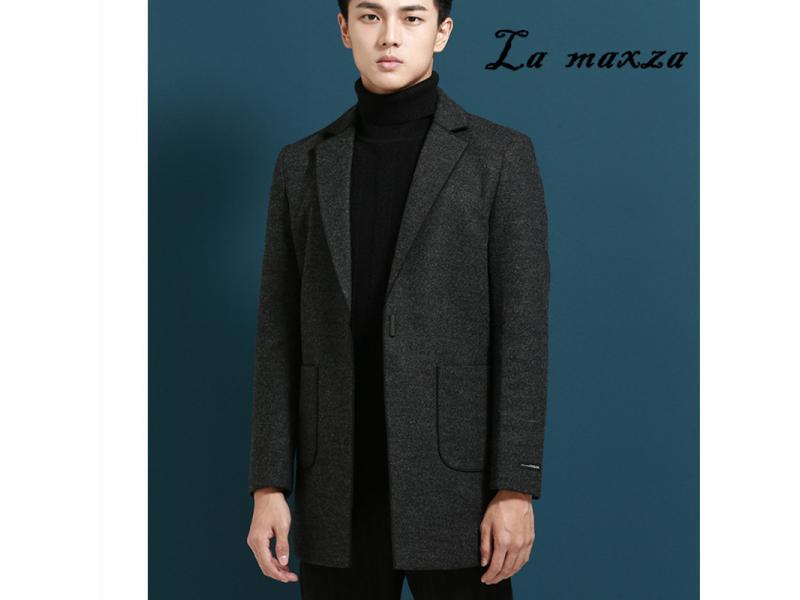 utumn Winter Smart Casual Men Coats and Jackets Fashion Cashmere Slim Lapel Overcoats