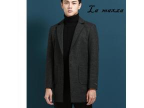 utumn Winter Smart Casual Men Coats and Jackets Fashion Cashmere Slim Lapel Overcoats