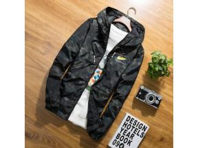 Autumn black jacket men thin jackets men casual hip hop windbreaker hooded jacket coat zipper parka