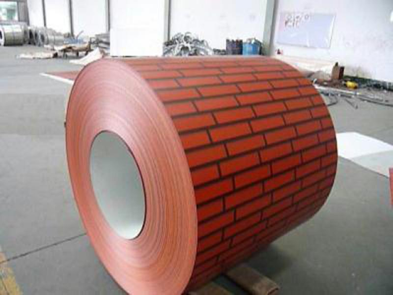 Brick color steel plate