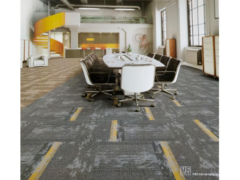Carpet Tile Delta Series Nylon Pile Height 3-4-5mm 450g per sqm Backing PVC