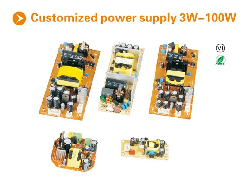 3-100w custom PCBA open type customized power supply