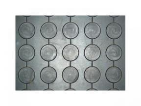 link round button rubber mat
