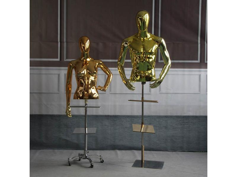 Electroplated half body mannequin