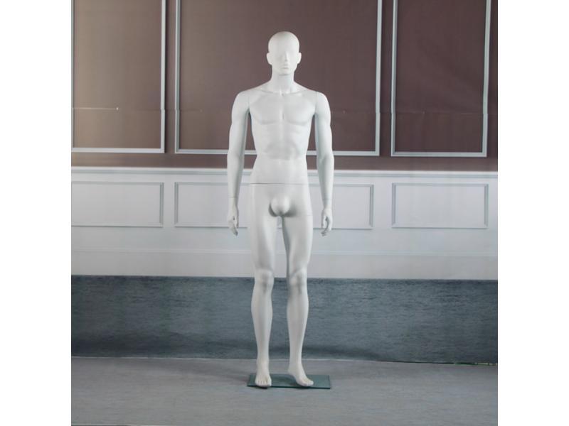 Plastic bright white body mannequin