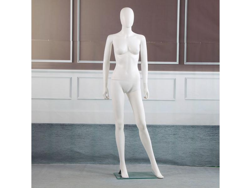 Plastic bright white body mannequin
