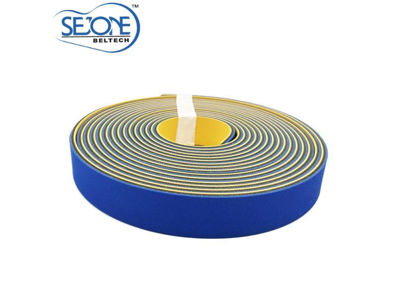 4.0mm thickness Blue&Yellow  high quality  Flat transmission belt