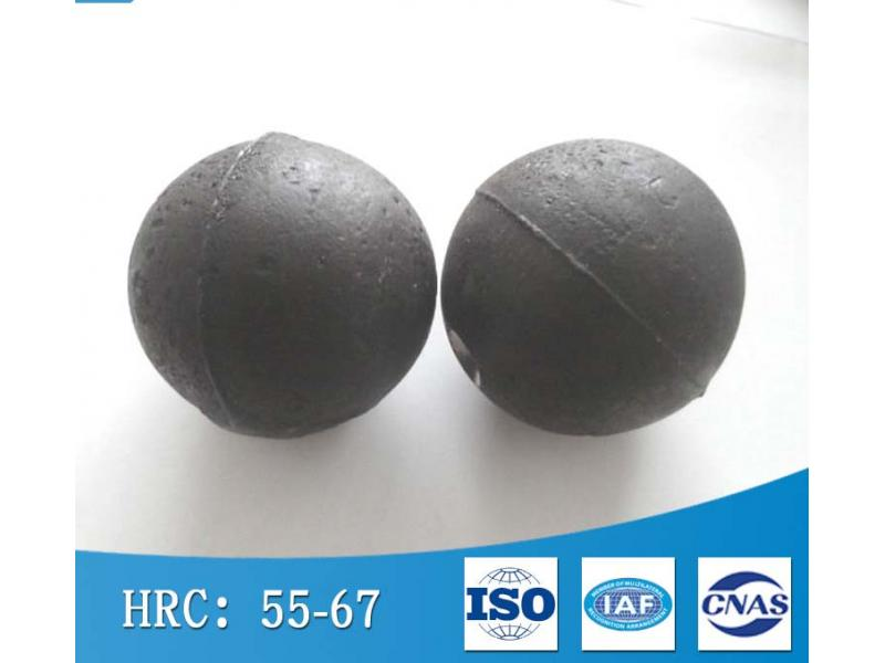 High impact toughness forged steel ball 65Mn material 90mm mine