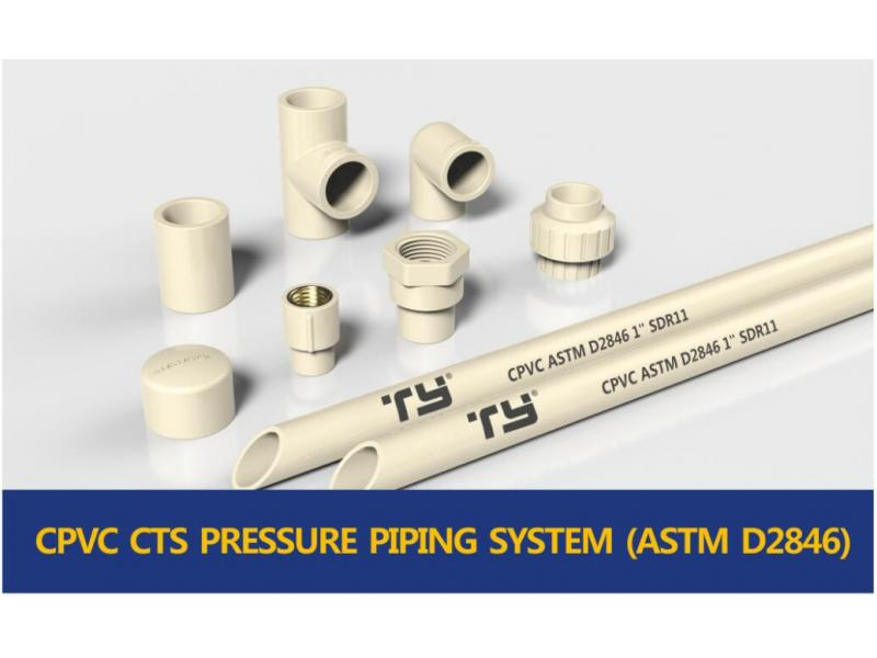 CPVC HOT WATER PIPE SYSTEM (ASTM D2846)