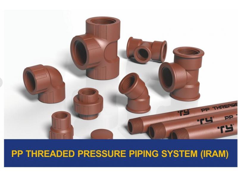 PPH THREADED PRESSURE PIPE SYSTEM(IRAM)
