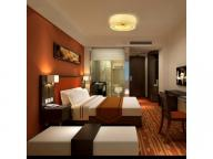 Solid wood frame plywood MDF wood veneer hotel home bedroom public area furniture set