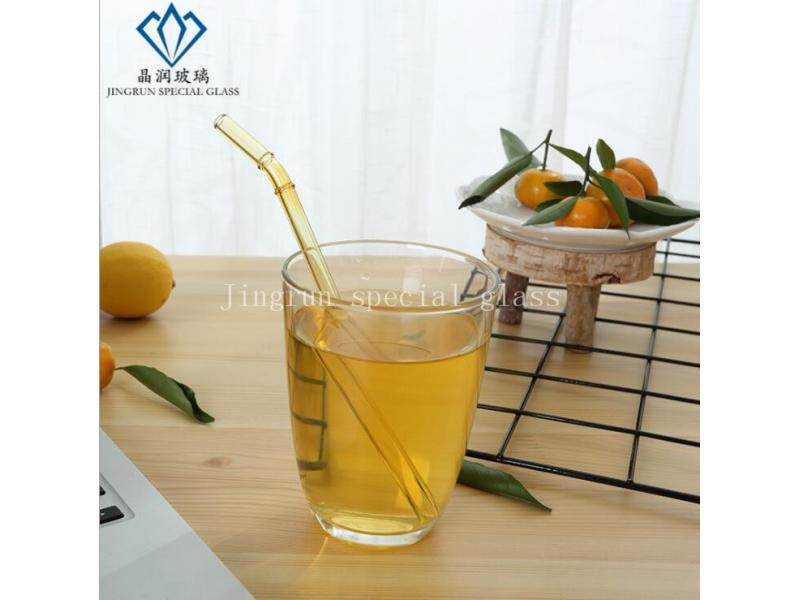 Top seller quality reusable drinking straws eco friendly bend and straight glass straws