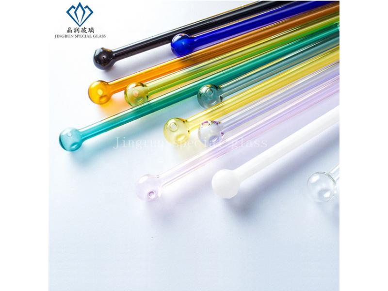 Round Ball Small Hole Filter High Borosilicate Glass Drinking Straws