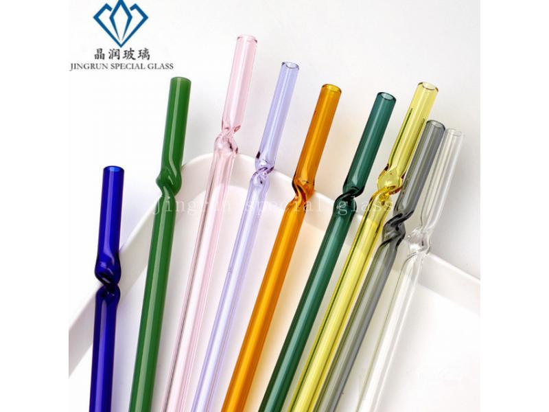 heat resistant different colored straight reusable drinking glass straws