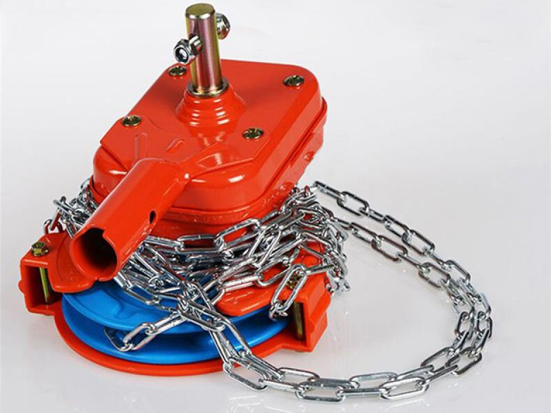 Greenhouse Film Roll Up Unit Hand Chain Winch