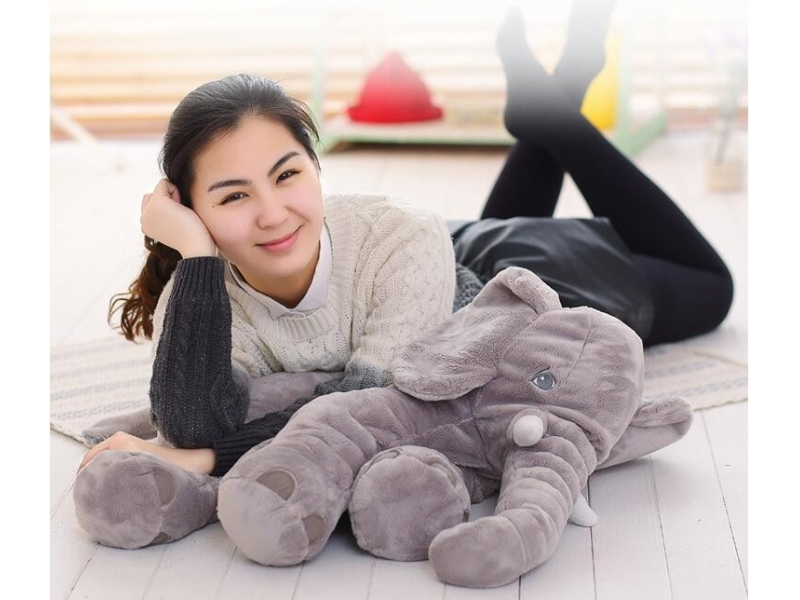 Dropshipping 40/60cm Appease Elephant Pillow Soft Sleeping Stuffed Animals Plush Toys Baby Playmate