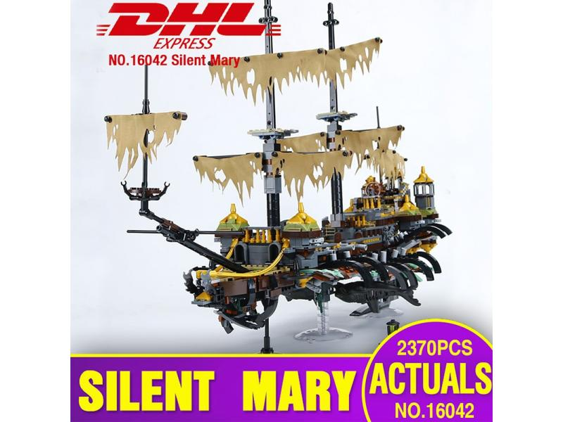 DHL 16042 Pirate Ship Series Building Blocks The 71042 Slient Mary Set Children Educational Bricks A