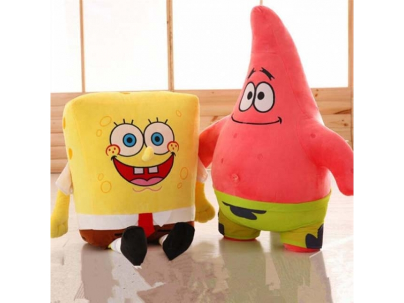 Sponge Bob Creative new 20cm Spongebob And 20 cm Patrick Plush Toy Soft Cartoon Toy for Kids Doll Bi