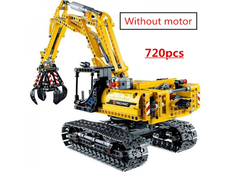 720pcs 2in1 Compatible Brand Technic Excavator Model Building Blocks Brick Without Motors Set City K