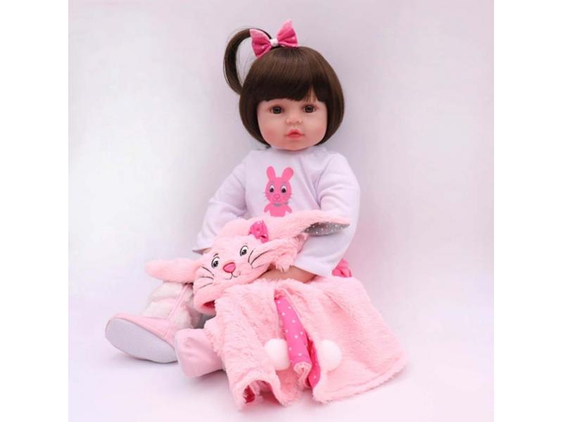 NPK 47CM Silicone Reborn Super Baby Lifelike Toddler Baby Bonecas Kid Doll Bebes Reborn Brinquedos R