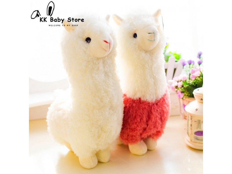 Lovely 28cm Cartoon Alpaca Plush Doll Toy Fabric Sheep Soft Stuffed Animal Plush Llama Yamma Birthda