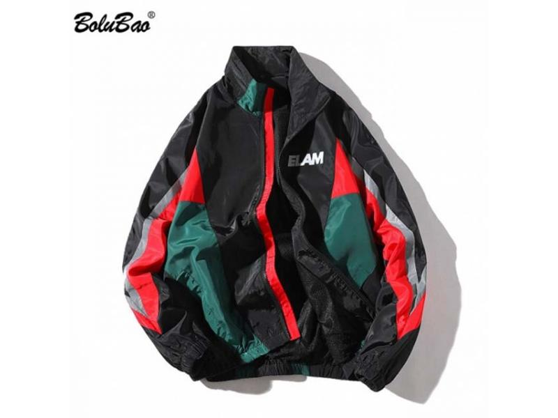 BOLUBAO Fashion Brand Jackets Mens 2019 Spring Autumn Hip Hop Tracksuit Coat Cardigan StreetWear Man
