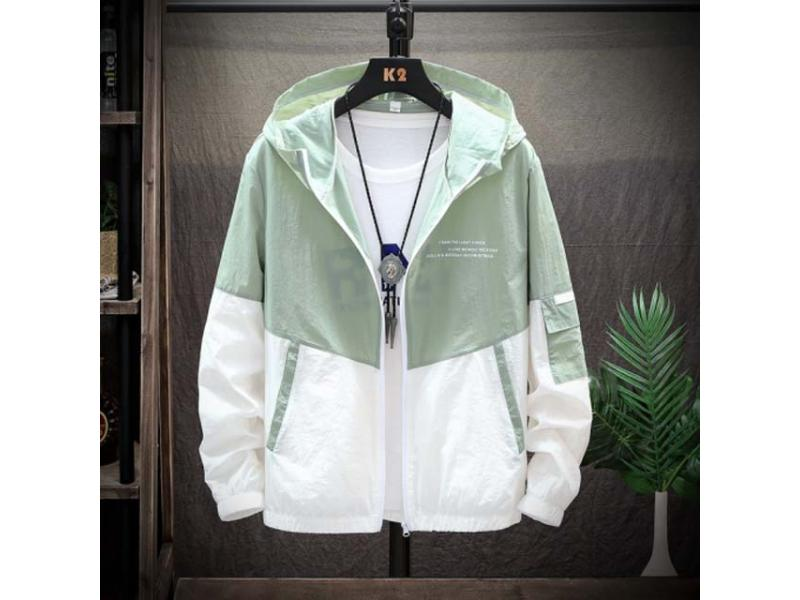 2019 New Slim Hooded Jackets Men New Patchwork Color Block Pullover Jacket Fashion Tracksuit Coat Me