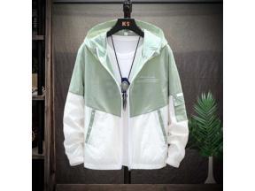 2019 New Slim Hooded Jackets Men New Patchwork Color Block Pullover Jacket Fashion Tracksuit Coat Me