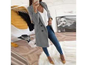Women Plus Size XXXL Woollen Blends Overcoats 2019 Autumn Winter Long Sleeve Casual Oversize Outwear
