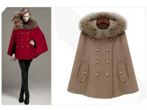 Fast Shipping Fashion Women 'S British Style Autumn And Winter Personalized Faux Fur Hooded Cloak C
