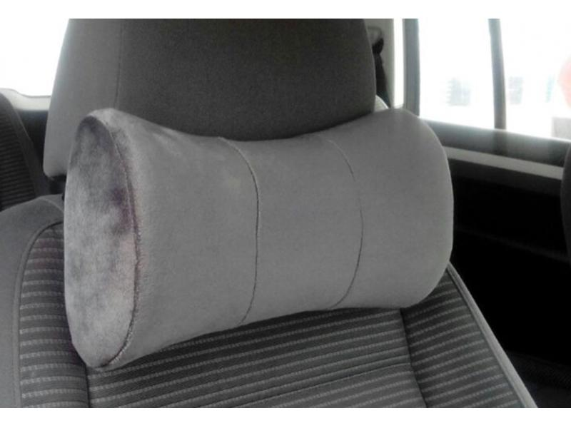 Car Neck Pillow with Soft Short Plush Cover