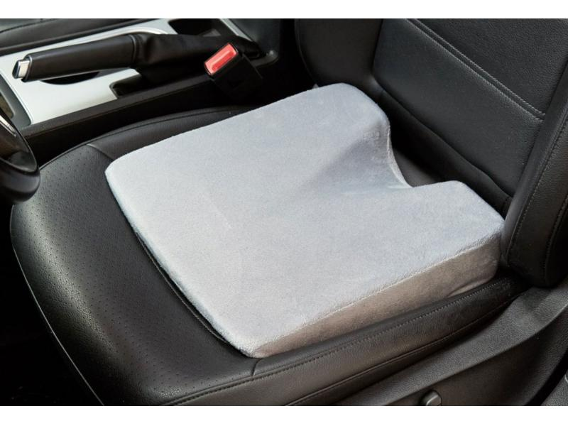 Car Memory Foam Wedge Cushion with Soft Short Floss