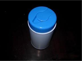 Hygienic flip plastic wipes bucket