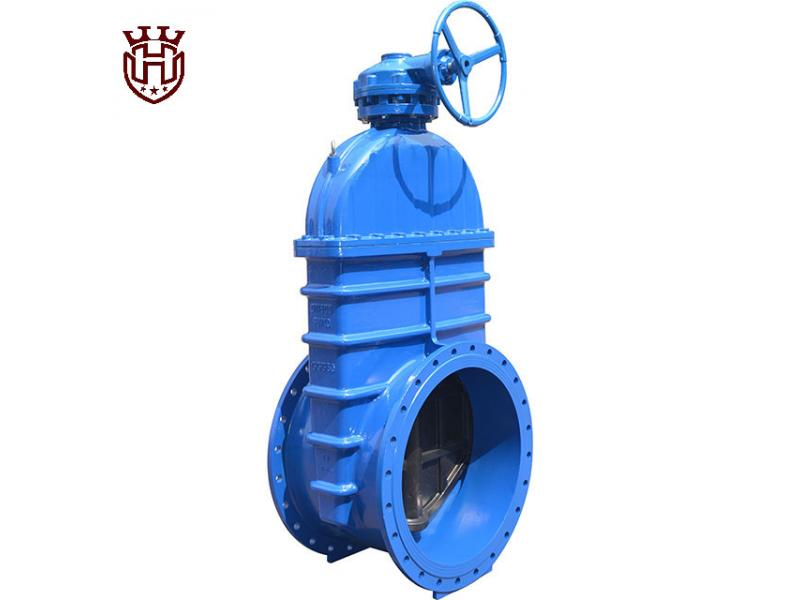 Big Size Resilient Rubber Soft Seated Sealing Gate Valve