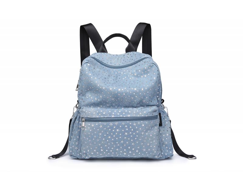 blue canvas mother &child backpack