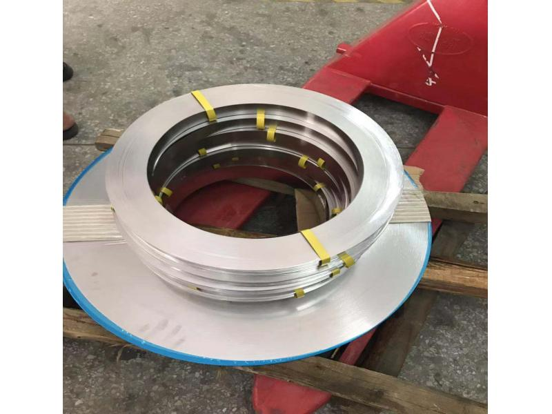 Stainless steel coiled material